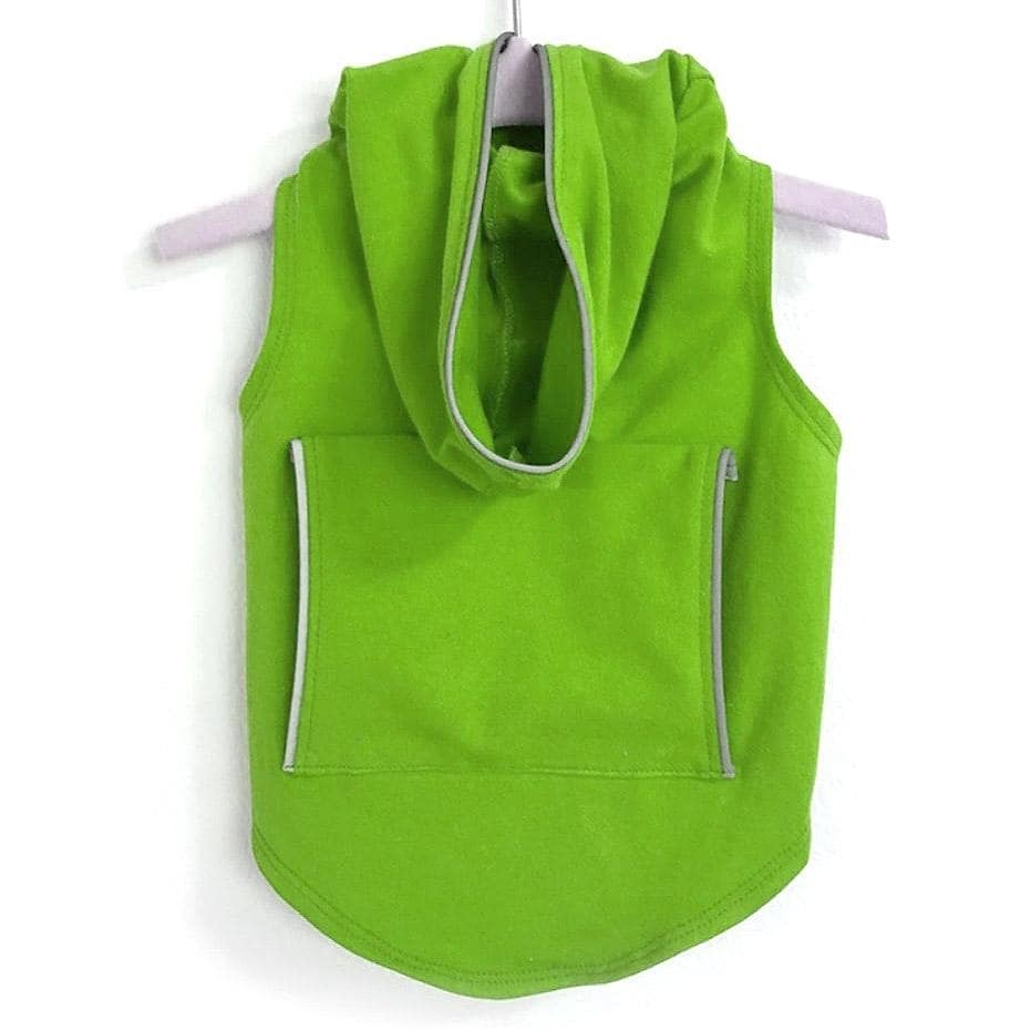 Dog Hoodie with Reflective Trim by Daisy and Lucy - Lime (Lime - Medium)