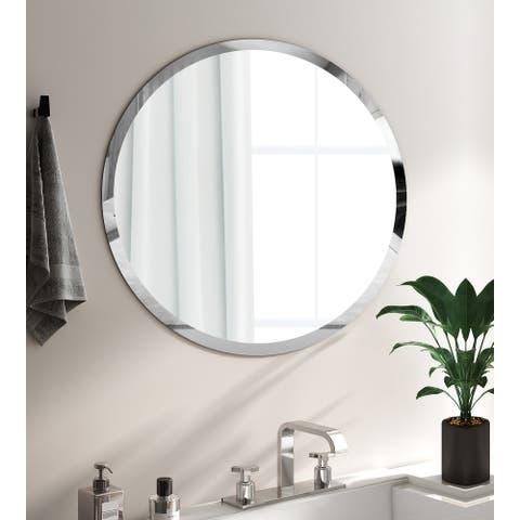 KOHROS Round Wall Mounted Bathroom Mirror