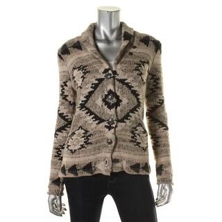Denim & Supply Ralph Lauren Womens Linen Blend Pattern Knit Sweater - S