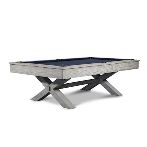 CrissyCross 8' Slate Pool Table w/Dining Top Option