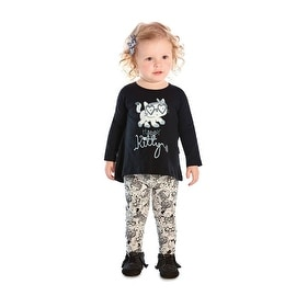 Baby Girl Outfit Long Sleeve T-Shirt and Leggings Set Pulla Bulla 3-12 Months