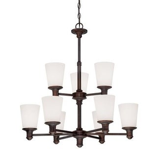 Millennium Lighting 2159 Cimmaron 9 Light 2 Tier Chandelier