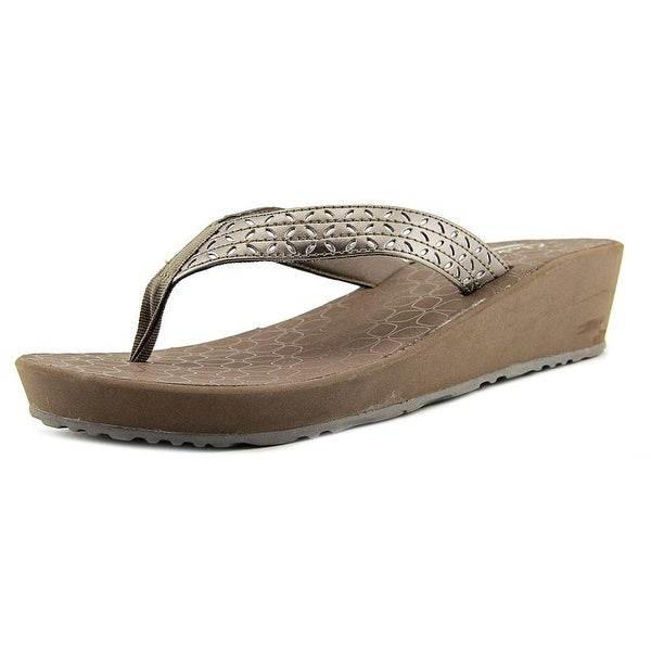 Clarks Liya Gander Women Pewter Sandals