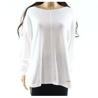 Lauren by Ralph Lauren NEW White Womens XL Boat Neck Pullover Sweater
