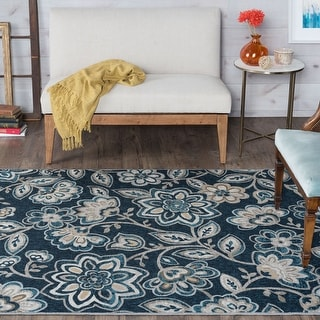 Link to Alise Rugs Majolica Transitional Floral Runner Rug Similar Items in Shabby Chic Rugs