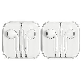 2 Pack - New Genuine Apple MD827LL/A Earpods Earphones for iPhone 6 5 4S w/ Remote & Mic