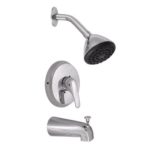 Design House 547455 Tub and Shower Trim Package with 1.8 GPM Single - Polished Chrome