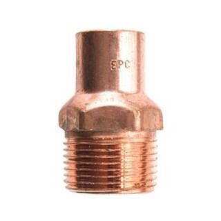 "Elkhart 30304 Copper Male Adapter 3/8"" X 1/2"""