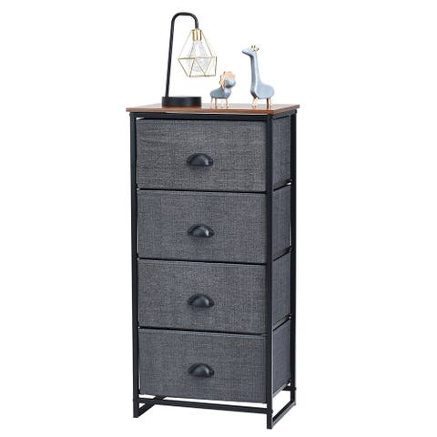 Dresser Storage Tower Nightstand with 4 Drawers