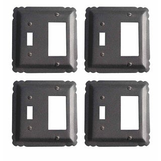 4 Switchplate Black Wrought Iron GFI/Toggle 5 1/4