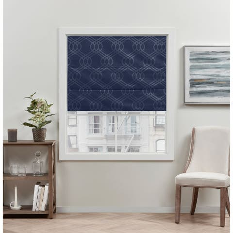 ATI Home Prague Trellis Blackout Roman Shade