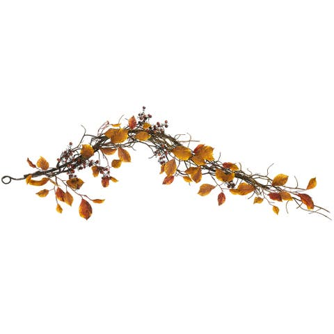 4' Fall Foliage, Berries and Twig Artificial Garland