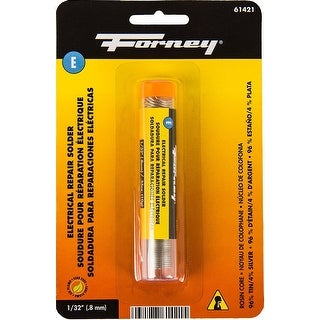 "Forney 61421 Lead Free Electrical Repair Rosin Solder, 1/32"", 0.35 Oz"