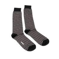 Missoni GM00CMU4657 0001 Black/Orange Knee Length Socks