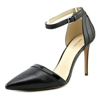 Nine West Timeshare Pointed Toe Leather Slingback Heel