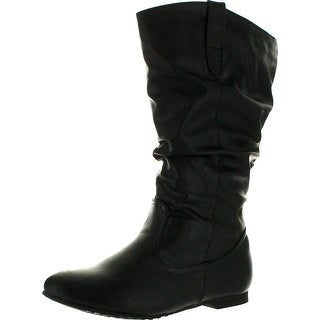 Reneeze Womens Art-02 Mid-Calf Boots - Black