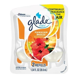 Glade 21749 PlugIns Air Freshener Oil Refill, Hawaiian Breeze|https://ak1.ostkcdn.com/images/products/is/images/direct/fd46a43e10a59c15c5a942499017989adc48aa90/Glade-21749-PlugIns-Air-Freshener-Oil-Refill%2C-Hawaiian-Breeze.jpg?impolicy=medium