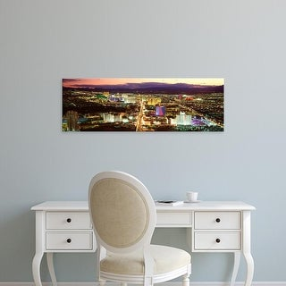 Easy Art Prints Panoramic Images's 'The Strip, Las Vegas Nevada, USA' Premium Canvas Art