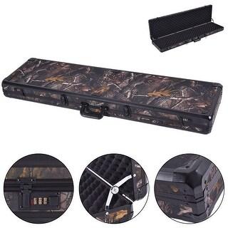Costway New 49'' Long Aluminum Locking Rifle Gun Case Lock Shotgun Storage Box Carry Camo