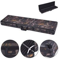 Costway New 49'' Long Aluminum Locking Rifle Gun Case Lock Shotgun Storage Box Carry Camo - Camouflage