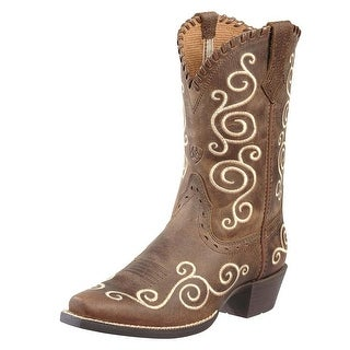 Ariat Sheleen Youth Pointed Toe Leather Brown Western Boot
