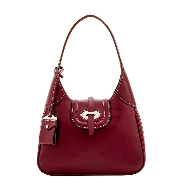 Dooney & Bourke Florentine Toscana Small Hobo (Introduced by Dooney & Bourke at $398 in Sep 2016) - Bordeaux