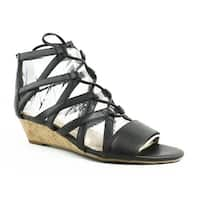 Franco Sarto Womens L-Brixie Black Sandals Size 6