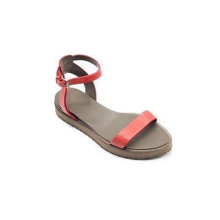 Brunello Cucinelli Women's Red Ankle Strap Sandals