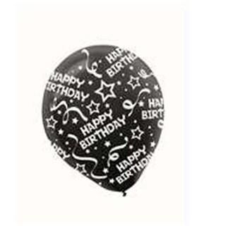 Amscan 115800.10 Black Birthday Balloons, Confetti - Pack of 72