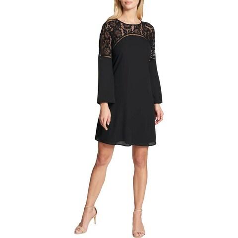 Kensie Womens Party Dress Bell Sleeves Knee-Length