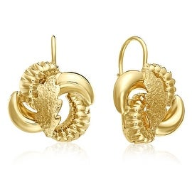 MCS JEWELRY INC 10 KARAT YELLOW GOLD LEVERBACK EARRINGS WITH LEAF DESIGN