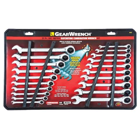 GearWrench 35720 Ratcheting Combination Wrench Set, 20 Piece