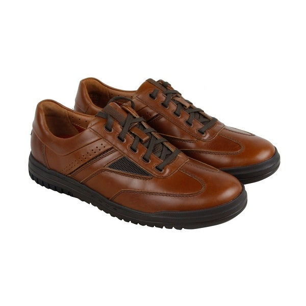 Clarks Unrhombus Fly Mens Tan Leather Casual Dress Lace Up Oxfords Shoes