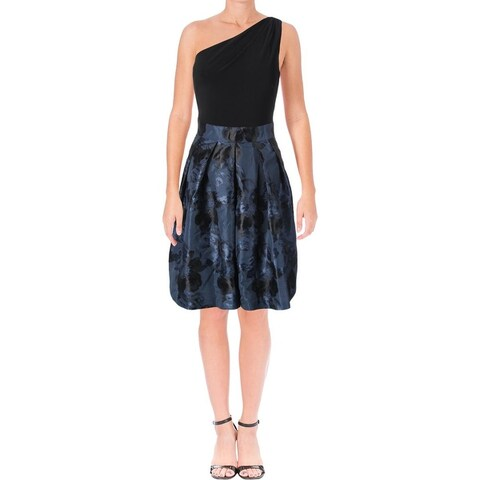 Lauren Ralph Lauren Womens Rayanne Cocktail Dress Pattern Fit & Flare