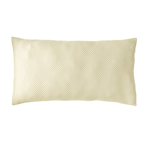 Better Trends 100% Poly-Cotton Blend Matelasse Weave Sophia Shams in Diamond Design Machine Washable Tumble Dry