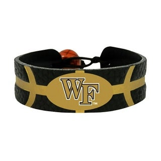 Wake Forest Demon Deacons Team Color NCAA Gamewear Leather Basketball Bracelet