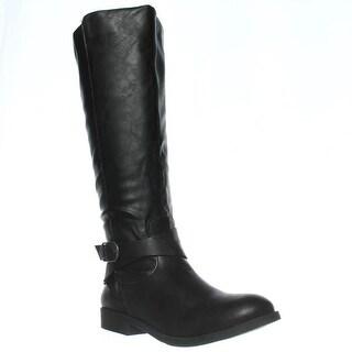 SC35 Madixe Knee-High Riding Boots, Black