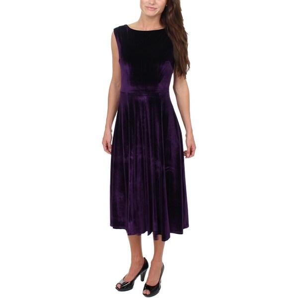 Betsey Johnson Womens Cocktail Dress Velvet Sleeveless