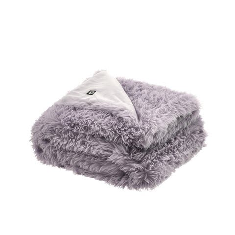 "Pauhai 50""x60"" Faux Lamb Fur Throw"