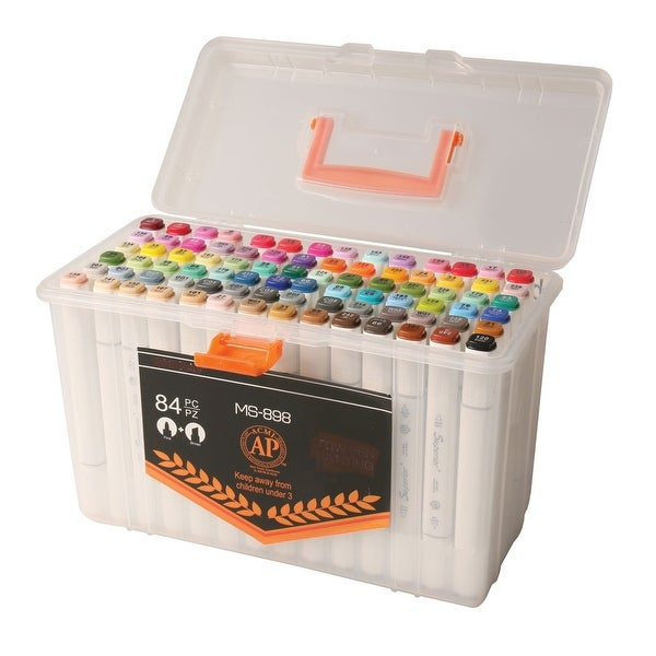 The Ultimate Dual-Tip Artist's Markers Set - 84 Colors