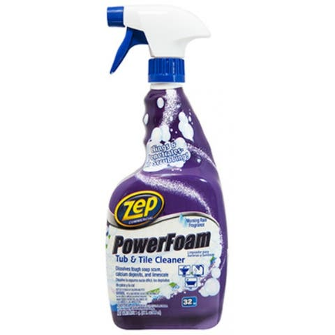Zep Commercial ZUPFTT32 PowerFoam Tub & Tile Cleaner, 32 Oz