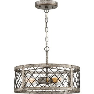 """Quoizel BH1717 Booth 3 Light 17-1/2"""" Wide Pendant - rustic gold"""