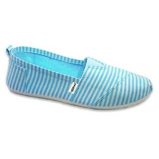 Frisky Womens 6-11 Stripe Canvas Sneakers