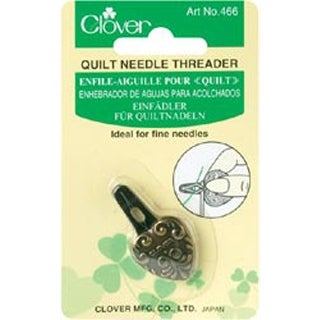 Quilt Needle Threader-Antique Gold Clover Stitching Needlecraft