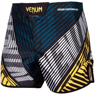 Venum Plasma Mid-Thigh MMA Fight Shorts - Black/Yellow