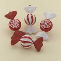 """Club Pack of 12 Candy Fantasy Red and White Swirl Christmas Ornaments 6"""" - multi"""