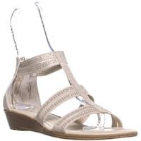 Rialto Greer Perforated Gladiator Sandals, Cream