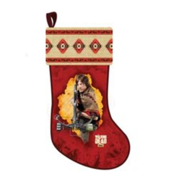 "19"" The Walking Dead ""Daryl"" Red Printed Plush Christmas Stocking"