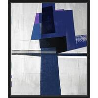 PTM Images 9-3808A Dark Blues Abstract Wall Art - Black