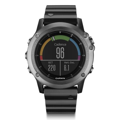Garmin fenix 3 Sapphire Multisport Training GPS Watch (Gray with Stainless Steel Bracelet)